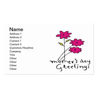 Saludos del día de madres tarjetas de visita
