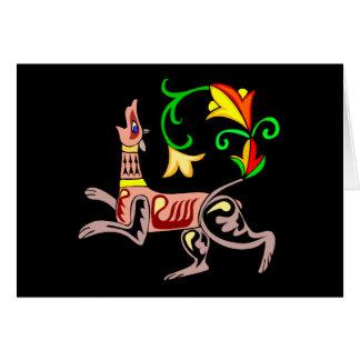 Saludos del día de St Patrick céltico del perro Tarjeta De Felicitación