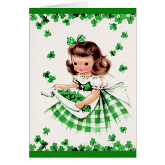 Saludos del día de St Patrick. Tarjeta adaptable