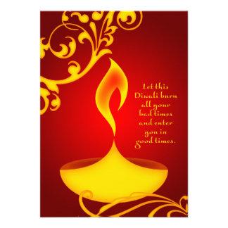 saludos del diwali: luz elegante anuncios personalizados