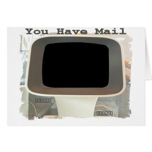 Saludos del email del ordenador tarjeta de felicitación