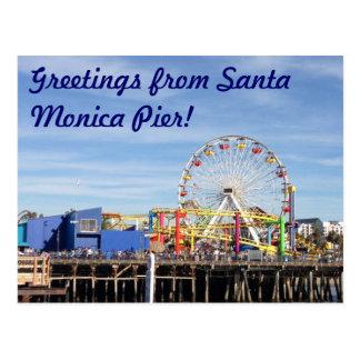 ¡Saludos del embarcadero de Santa Mónica! Postales