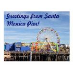 ¡Saludos del embarcadero de Santa Mónica! Tarjeta Postal