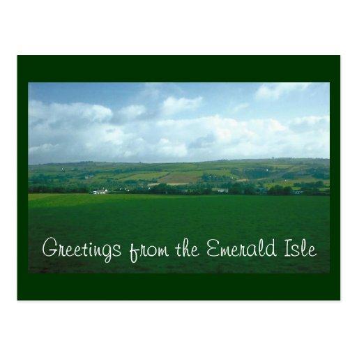 Saludos del Emerald Isle Tarjetas Postales