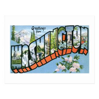 ¡Saludos del estado de Washington Postal del vint