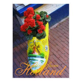 Saludos del estorbo de la flor de la postal de Hol