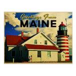 Saludos del faro de Maine Postal