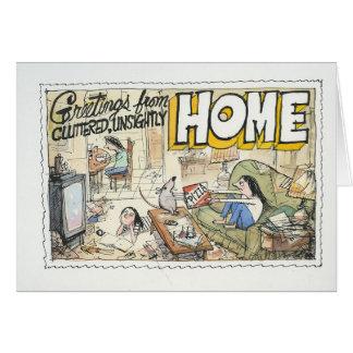 Saludos del hogar tarjeta de felicitación
