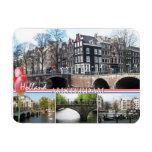 Saludos del imán flexible de Holanda - de Amsterda