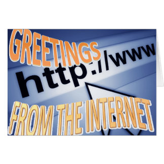 saludos del Internet Felicitacion