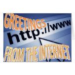 saludos del Internet Tarjeta Pequeña