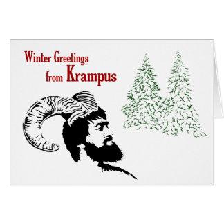 Saludos del invierno de Krampus Felicitacion