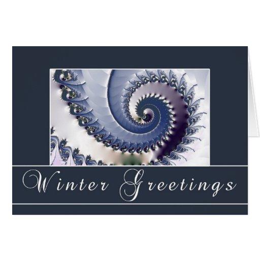 Saludos del invierno tarjeta de felicitación