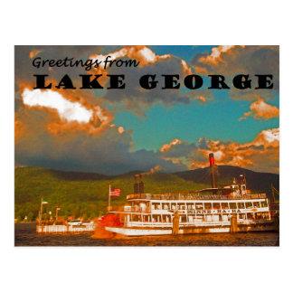 Saludos del lago George Postal