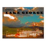 Saludos del lago George Tarjetas Postales