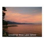 ¡Saludos del lago Tahoe! Postal