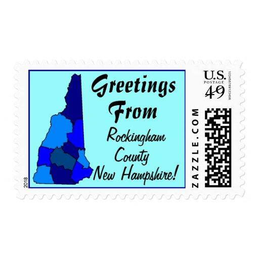 Saludos del mapa de los sellos del condado de New