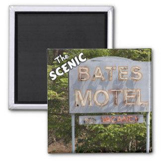 Saludos del motel escénico de Bates Imán Cuadrado