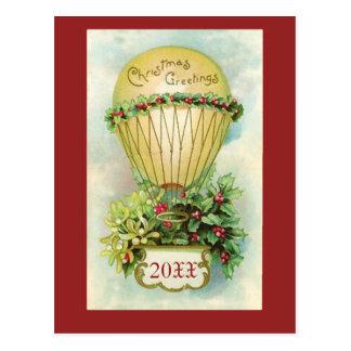 Saludos del navidad con la fecha adaptable postal