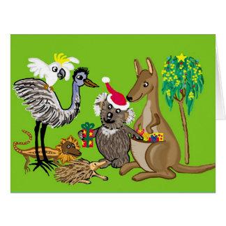 Saludos del navidad de Australia Tarjeta De Felicitación Grande