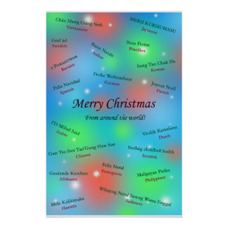 Saludos del navidad de enfrente del mundo póster