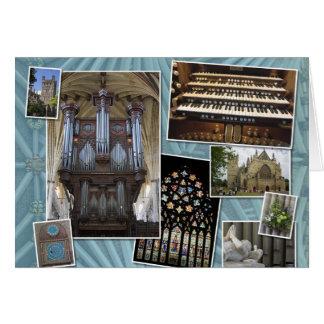Saludos del navidad de la catedral de Exeter Tarjeta Pequeña
