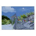 Saludos del navidad de la cerca y de las dunas de  tarjetas