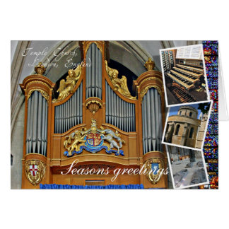 Saludos del navidad de Londres de la iglesia del Tarjeta De Felicitación