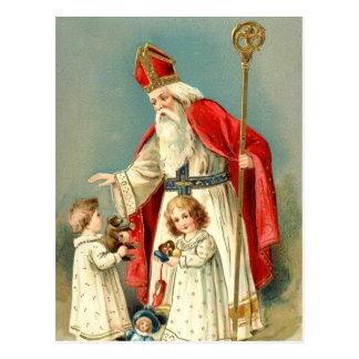 Saludos del navidad de San Nicolás Postal
