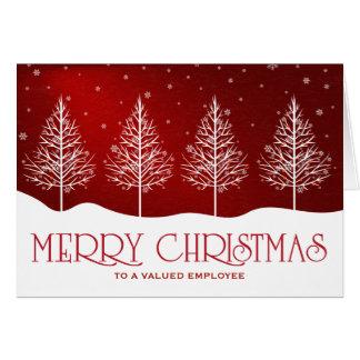 Saludos del navidad del aprecio del empleado del tarjeta de felicitación
