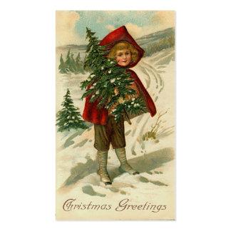 Saludos del navidad del Victorian mini o etiquetas Tarjeta De Negocio