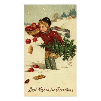 Saludos del navidad del Victorian mini o etiquetas Plantillas De Tarjeta De Negocio