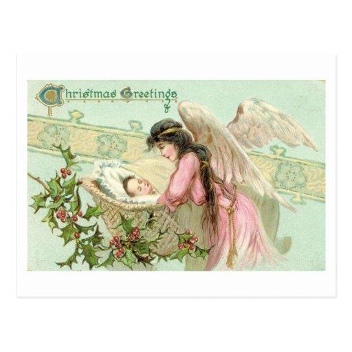 Saludos del navidad del Victorian Tarjetas Postales