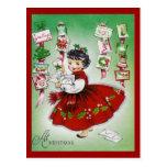 Saludos del navidad del vintage tarjeta postal