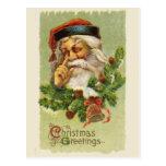 Saludos del navidad del vintage tarjetas postales