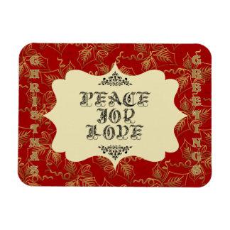 Saludos del navidad - estación de la paz, de la al imanes rectangulares