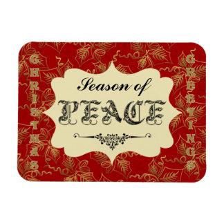 Saludos del navidad - estación del imán de la paz