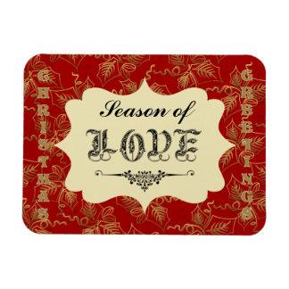 Saludos del navidad - estación del imán del amor