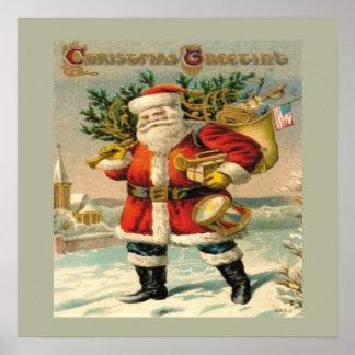 Saludos del navidad impresiones