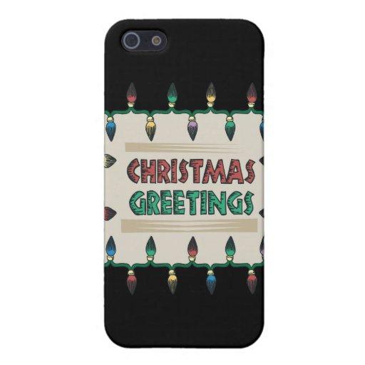 Saludos del navidad iPhone 5 carcasa