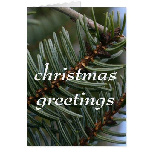 saludos del navidad tarjeta de felicitación