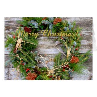Saludos del navidad tarjeton