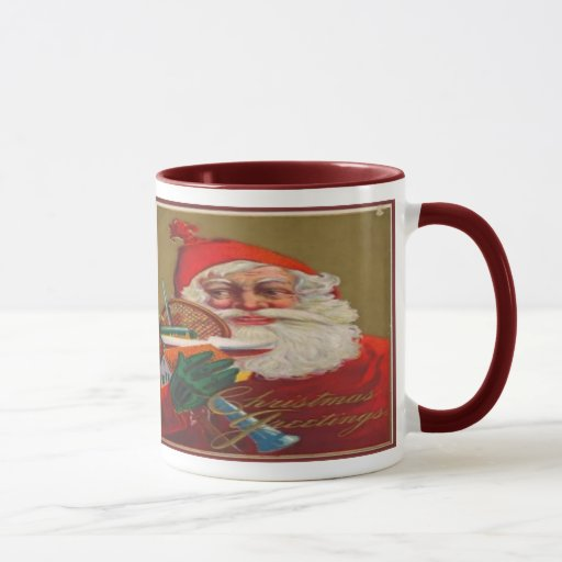 Saludos del navidad taza