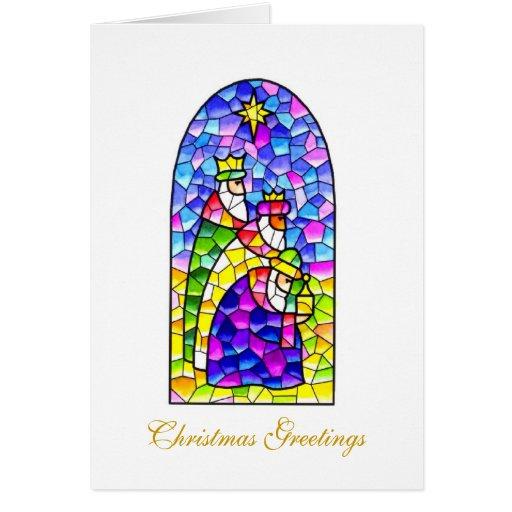 Saludos del navidad tres reyes felicitación