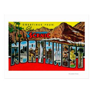 Saludos del noroeste escénico postales
