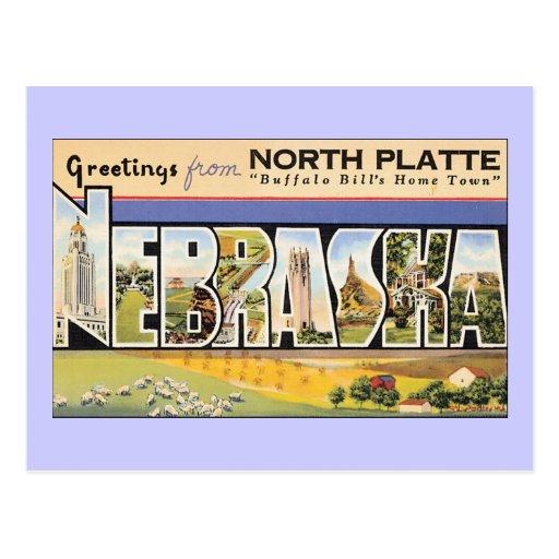 Saludos del North Platte Nebraska Postal