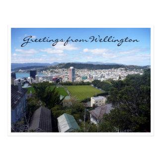 saludos del nz de Wellington Tarjeta Postal