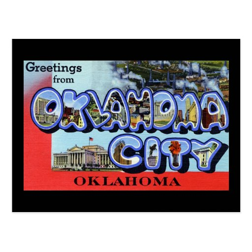 Saludos del Oklahoma City Oklahoma Postales