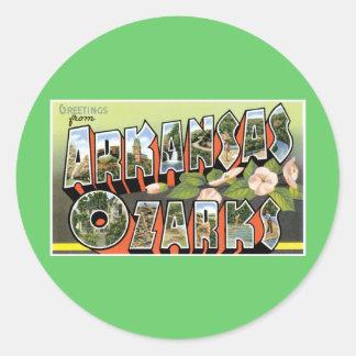 ¡Saludos del Ozarks! Pegatina Redonda