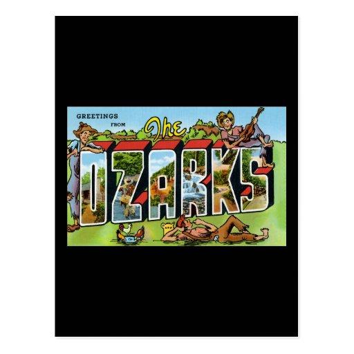 Saludos del Ozarks Tarjetas Postales